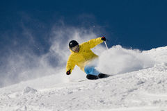 Extreme skiër. Royalty-vrije Stock Foto's