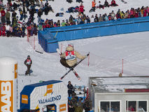 Extreme ski Royalty-vrije Stock Afbeelding