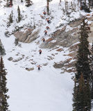 Extreme skier. International Free Skiing Competition at Snowbird Utah 4 Competitor Royalty Free Stock Images