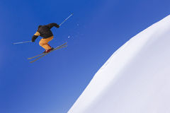 Extreme Skier in the jump Stock Photo