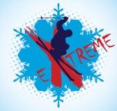 Extreme skiing Royalty Free Stock Photos