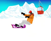 Extreme Skiing.Winter Sport Royalty Free Stock Photo