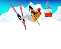 Extreme Skiing.Winter Sport Royalty Free Stock Photography