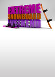 Extreme snowboard weekend background Stock Image