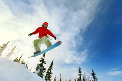 Extreme snowboarder Royalty-vrije Stock Foto