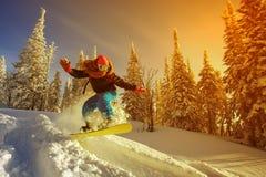 Extreme snowboarder Stock Afbeelding