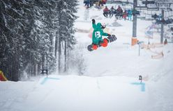 Free Extreme Snowbord Competition In Winter Park Stock Photos - 130405383