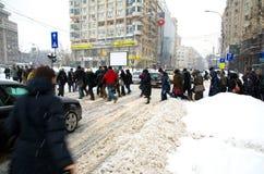 Extreme snowfall Royalty Free Stock Image