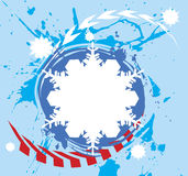 Extreme snowflake.Abstract winter banner Stock Images