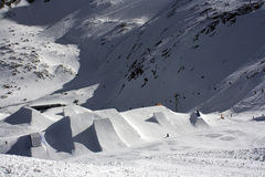 Extreme snowpark Stock Image