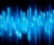 Extreme sound wave. Great image of very bright and glowing sound wave Royalty Free Stock Photos