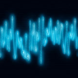 Extreme sound wave Royalty Free Stock Photo