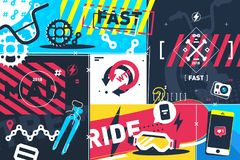 Extreme sport abstract background Stock Photo