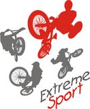 Extreme sport.  BMX rider - vector illustration. Royalty Free Stock Images