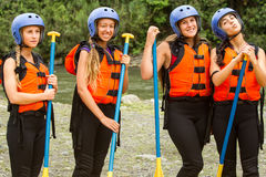 Extreme Sport Girls Royalty Free Stock Photography
