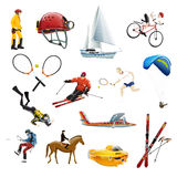Extreme sport  icons. Set of extreme sport  icons on transparent background Royalty Free Stock Image