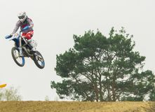 Extreme sport motocross competition Royalty Free Stock Photography