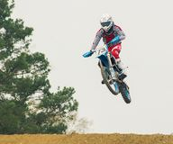 Extreme sport motocross competition stock image