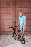 Extreme sport op BMX-fiets royalty-vrije stock foto's