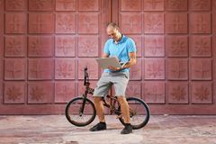 Extreme sport op BMX-fiets royalty-vrije stock fotografie
