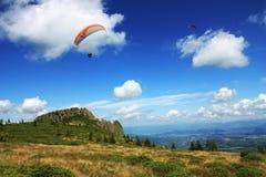 Extreme sport op het bergbehang Royalty-vrije Stock Afbeelding