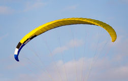 Extreme sport parachute in the sky. Extreme sport in the sky on a parachute stock photography