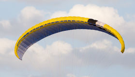 Extreme sport parachute in the sky. Extreme sport in the sky on a parachute royalty free stock image