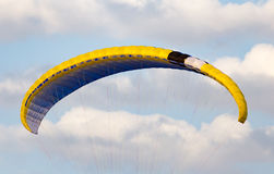 Extreme sport parachute in the sky. Extreme sport in the sky on a parachute stock image