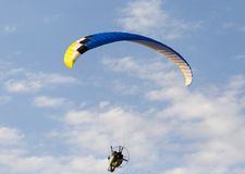 Extreme sport parachute in the sky Stock Photo