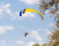 Extreme sport parachute in the sky Stock Image