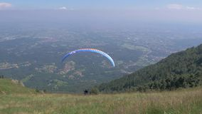 Extreme sport, paragliding stock video footage
