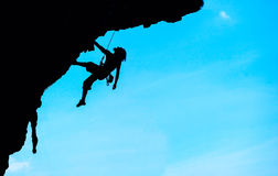 Extreme sport. The rock-climber during rock conquest Stock Image