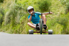 Extreme Sport Trike Drifting Stock Images