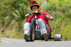 Extreme Sport Trike Drifting Royalty Free Stock Photography