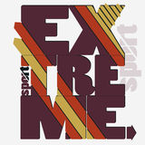 Extreme sport Typography label Royalty Free Stock Photography