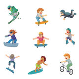 Extreme sport vector people. Royalty Free Stock Images