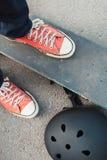 Extreme Sportherausforderung Skateboard fahren des Wettbewerbs Stockfoto