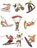 Extreme Sportikone der Karikatur Lizenzfreie Stockbilder