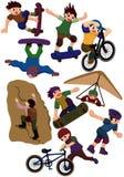 Extreme Sportikone der Karikatur Lizenzfreies Stockfoto