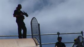 Extreme sports California stock footage