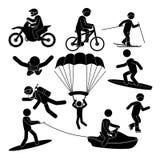 Extreme sports design. Stock Photos
