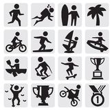Extreme sports icon Royalty Free Stock Photography