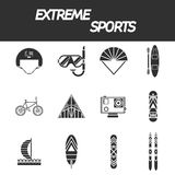 Extreme sports icon set Royalty Free Stock Images