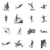 Extreme Sports Icons Royalty Free Stock Photos