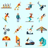 Extreme Sports Icons Royalty Free Stock Photo