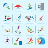 Extreme sports icons Royalty Free Stock Photography