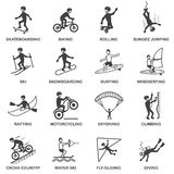 Extreme Sports Icons Set Royalty Free Stock Photos