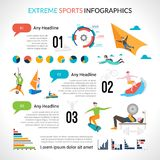Extreme Sports Infographics Stock Image