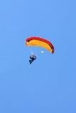 Extreme sports. parachuting Stock Image
