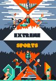 Extreme Sports Poster Stock Images